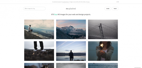 Resplashed show a lot of images from Unsplash but there are still a few other ones to choose from
