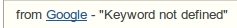 keyword-not-defined